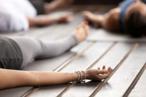 savasana pose yoga nidra training